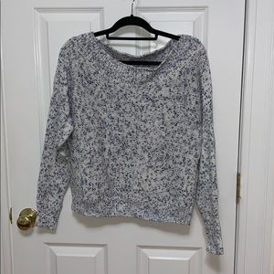 Cotton and acrylic sweater
